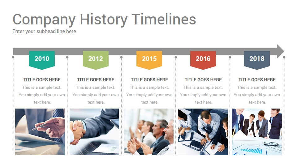 Timeline for About Us page