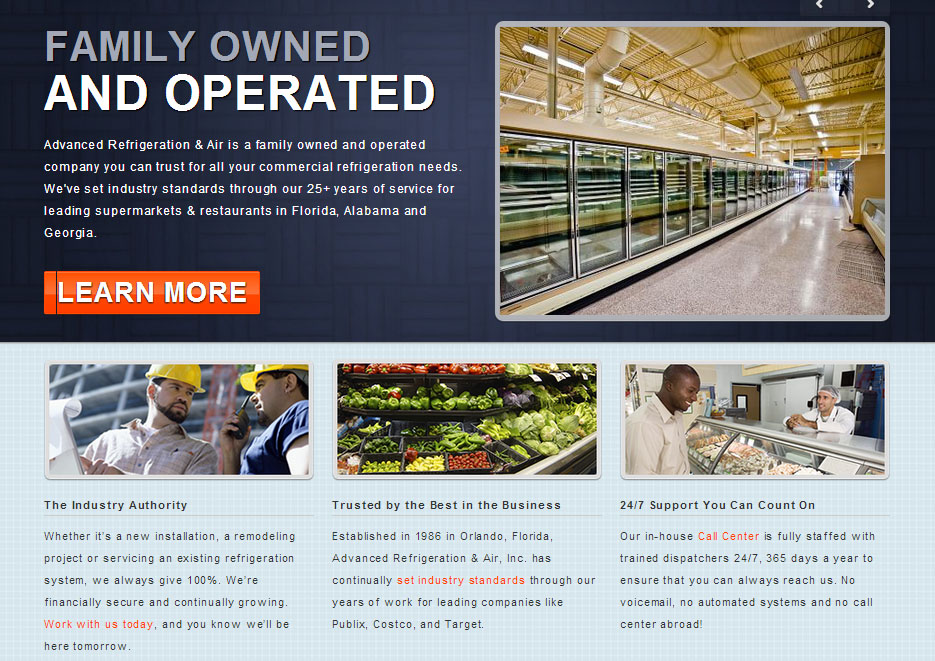 Advanced Refrigeration & Air Homepage
