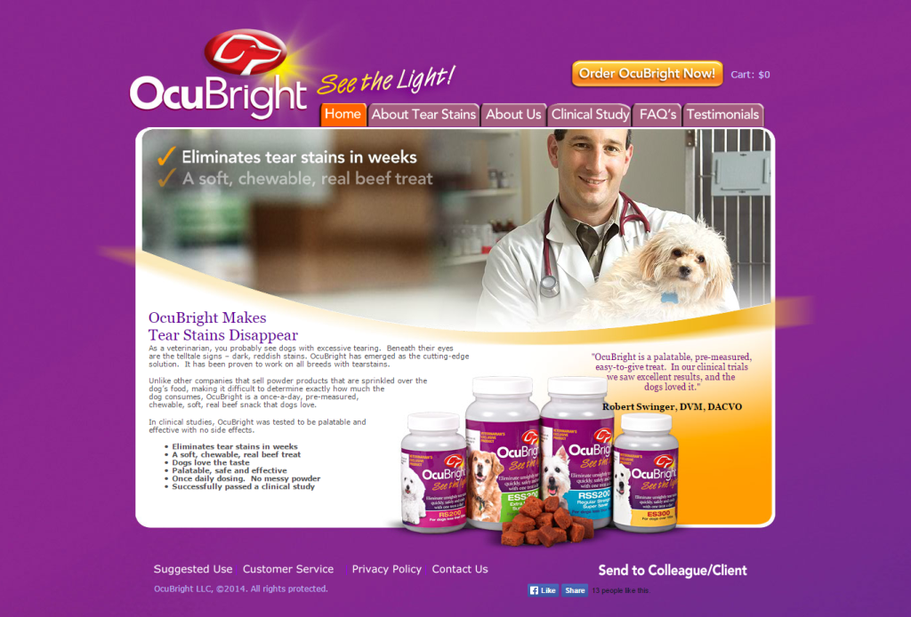 ocubright homepage
