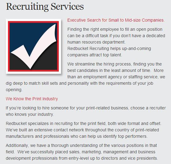 Redbucket Recruiting Services