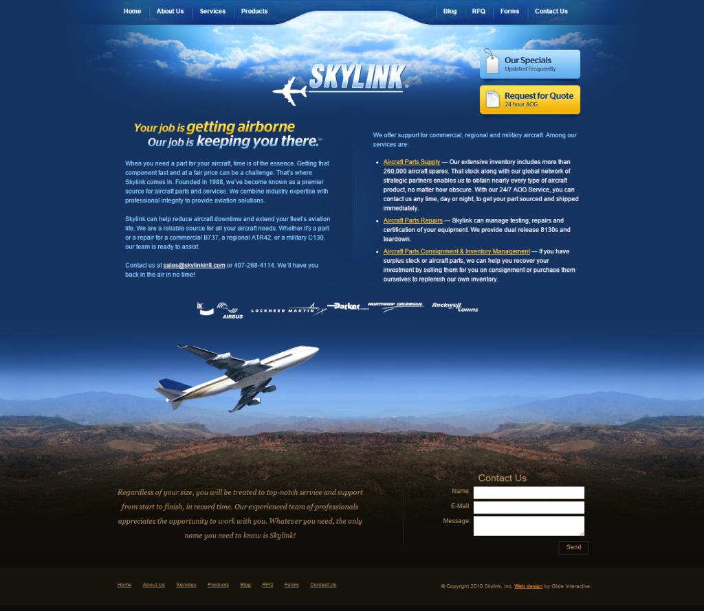 skylinkintl homepage