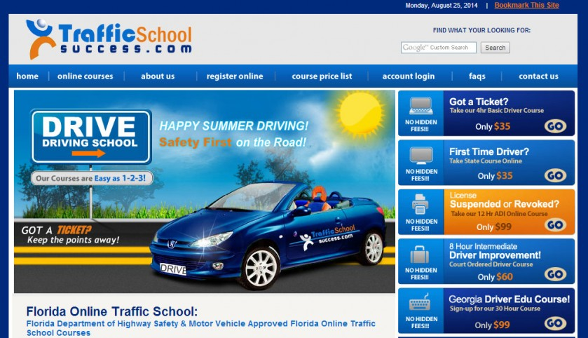 Traffic School Success Homepage