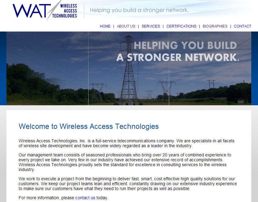 Wireless Access Technology Homepage
