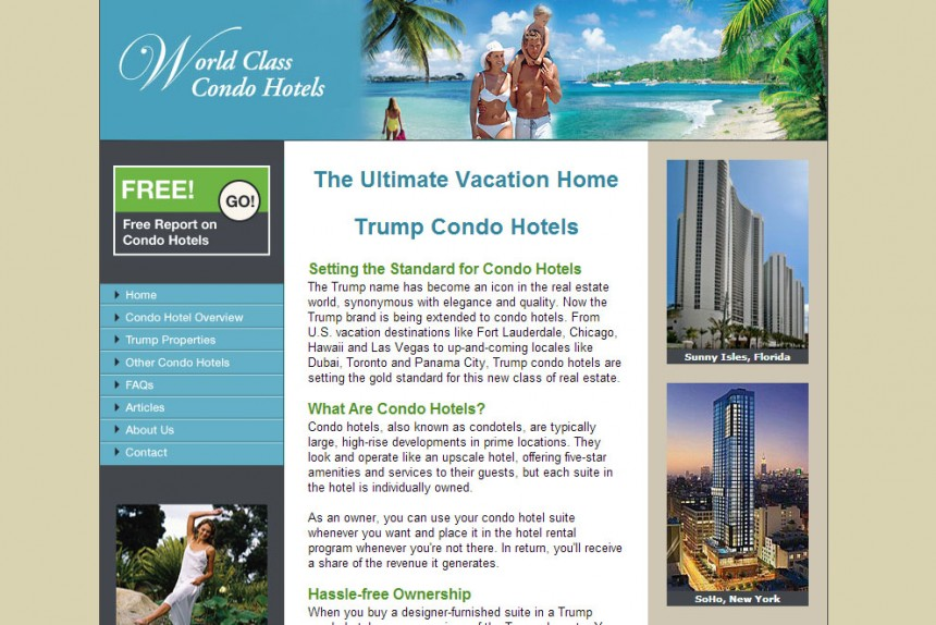 World Class Condo Hotels Homepage