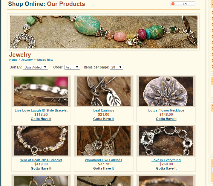 RTEjewelry Products Page