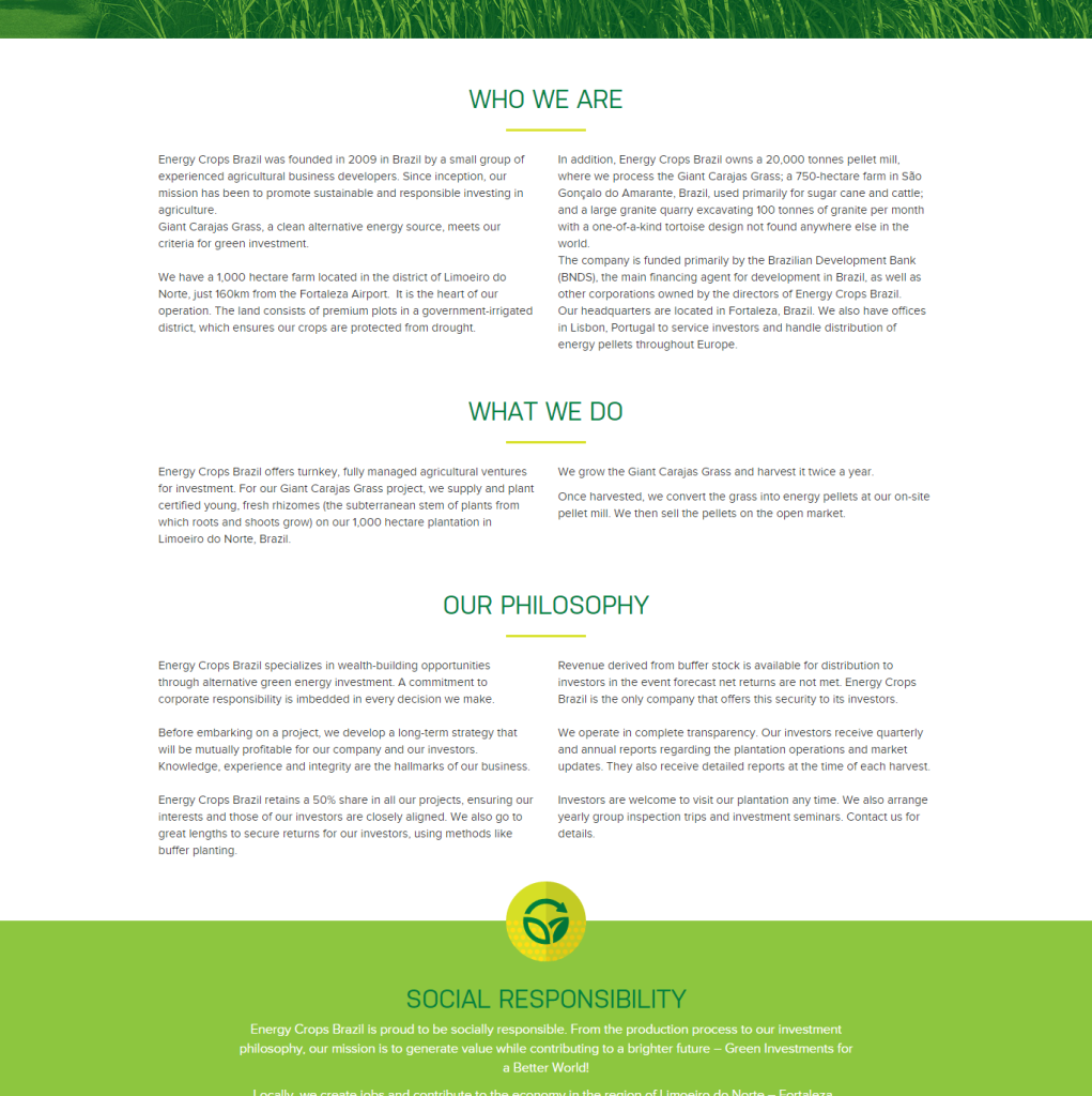 energy crops brazil about us page