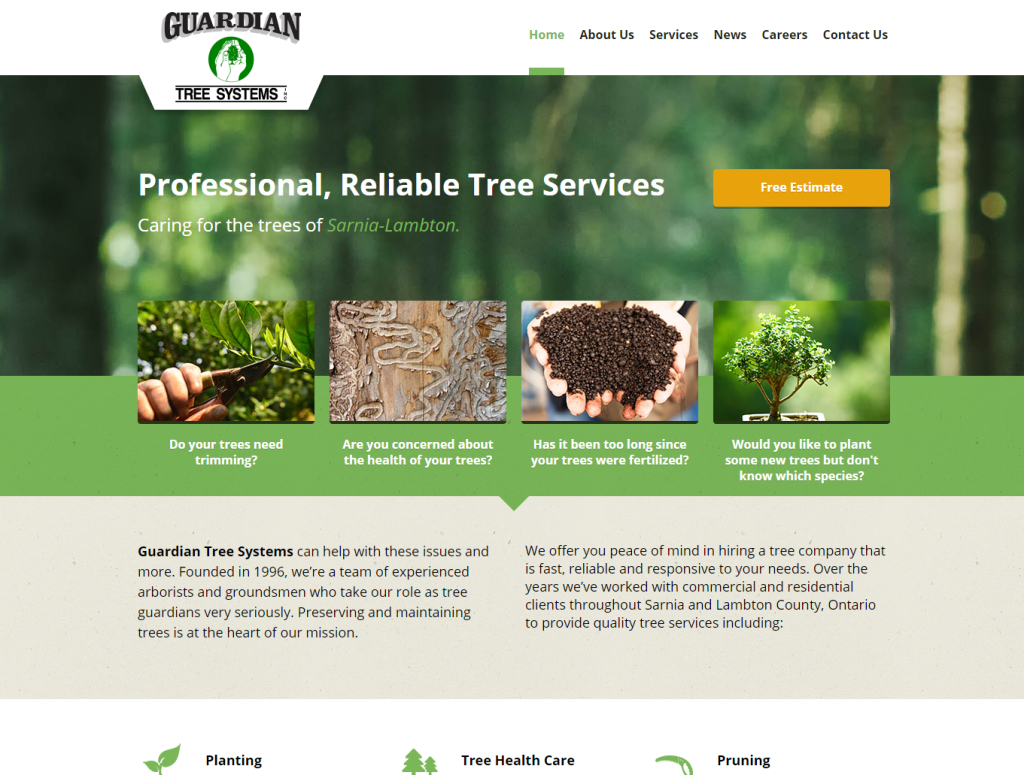 guardian tree systems homepage