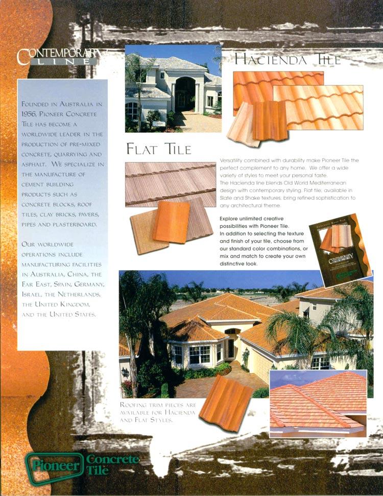 Pioneer Concrete Tile Hired Freelance Brochure Copywriter Susan Greene
