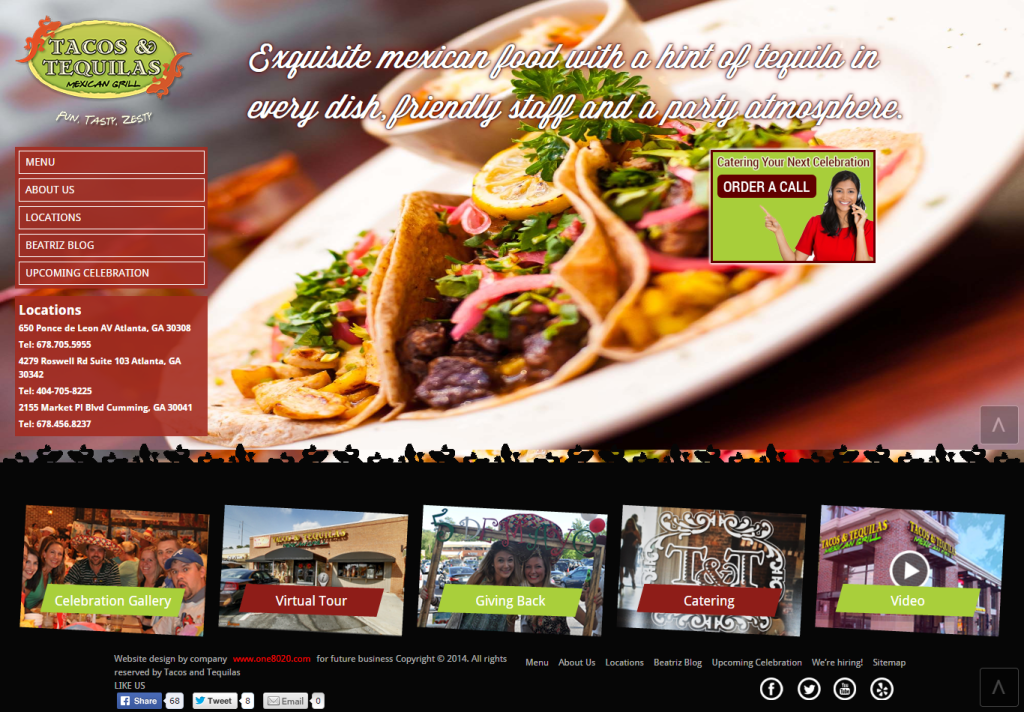 tacos and tequilas homepage