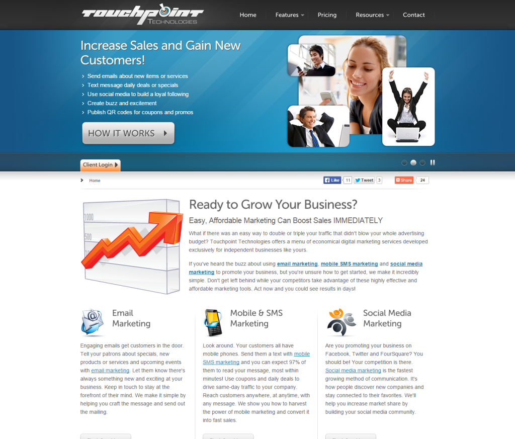 toupoint technologies homepage
