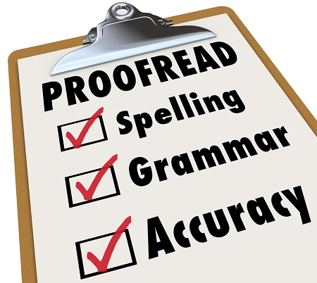 Proofread written material