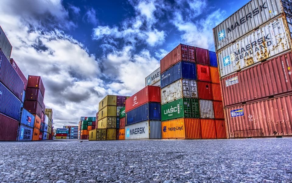 Container trade from China to U.S.
