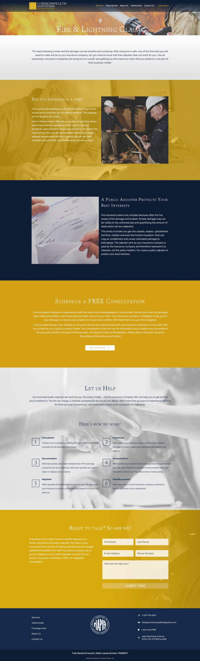 Commonwealth Adjusters, Copywriter for Public Adjusters ...