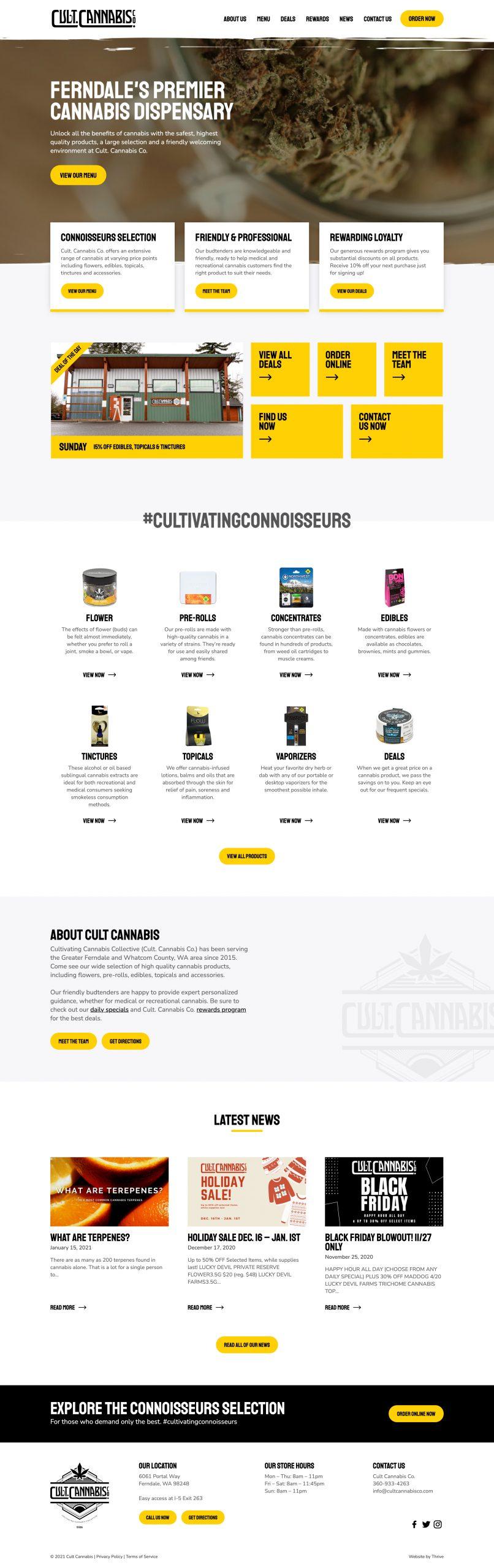 Cult. Cannabis web page