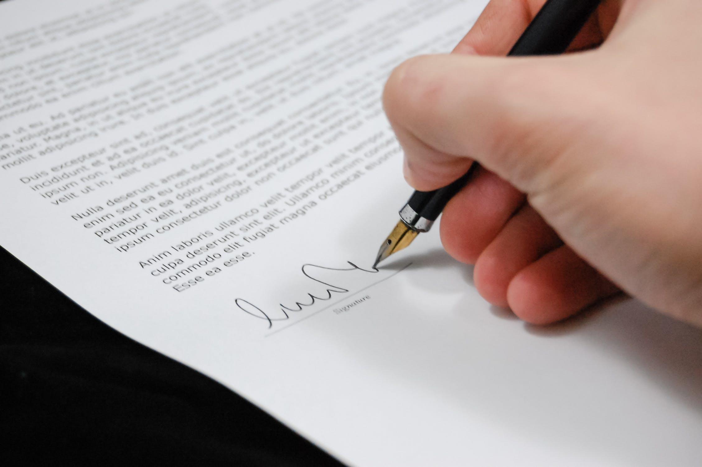 copywriting contract